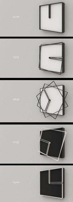 """Fun clock design concept - easy to replicate with laser cutting - but is it useful? I mean, is this clock """"readable""""?:"""
