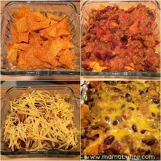 This Dorito Chili Casserole is a perfect meal to throw together for watching a football game. Or even just a quick meal at home! Chilli Casserole, Easy Casserole Recipes, Casserole Dishes, Chili Recipes, Mexican Food Recipes, Soup Recipes, Dinner Recipes, Quick Meals To Make, Easy Weeknight Meals