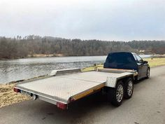 Saab flatbed Car Hauler that can tow Audis, BMWs and Mercedes https://goo.gl/NG9C8F