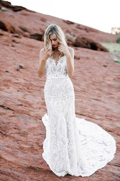 Dramatic Fitted Lace Made With Love Dress