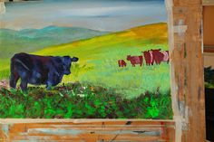 Belted Galloway Cow Paintings - Mike Jory - Fine Art Blog