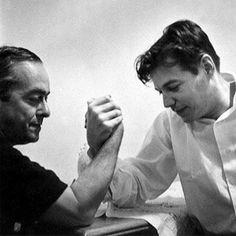 músicos brasileños Tom Jobim y Vinicius de Moraes Lucha de brazo