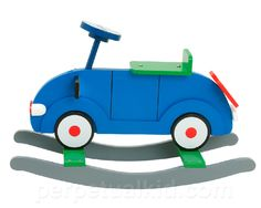 KID'S ROCKING CAR CLASSIC BLUE