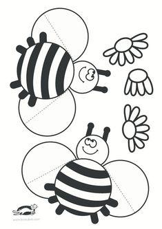 printables for kids Bee Crafts, Diy And Crafts, Crafts For Kids, Arts And Crafts, Paper Crafts, Bumble Bee Birthday, Abc Activities, Kawaii Doodles, Animal Crafts