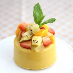 Vegan Mango Panna Cotta with Kiwi, Mango and Strawberries - Jeanette's Healthy Living