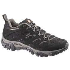Merrell mens Merrell Mens Moab Goretex Breathable Walking Shoes Black Black Synthetic UK Size (EU US Waterproof Walking Shoes, Merrell Shoes, Mens Fashion Shoes, Mode Online, Unisex, Shoes Uk, Gore Tex, Ss 15, Color Negra