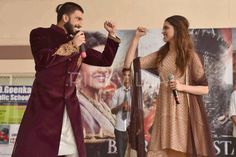 Ranveer & Deepika snapped during #BajiraoMastani promotions.