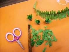 Making scale miniature ferns for your dollhouse