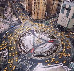 taxis at Columbus Circle, NYC A New York Minute, Columbus Circle, New York Pictures, Empire State Of Mind, I Love Nyc, Ny Ny, Paris City, City That Never Sleeps, Staten Island