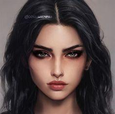Arte Digital Fantasy, Digital Art Girl, Digital Portrait, Portrait Art, Aesthetic People, Aesthetic Art, Character Portraits, Character Art, Female Character Inspiration