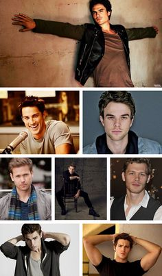 damon, tyler, kol, alaric, matt, klaus, stefan, and jeremy. but honestly the whole thing should just be jeremy. steven mcqueen, come to mama. ♥