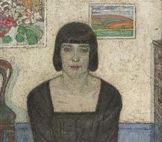 Portrait of the artists wife (1917)  Leon de Sme