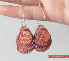 ReFab Diaries: Guest ReFab: Postage Stamp Earrings... {Foxglove Accessories}