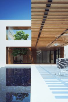 pool and pergola Architecture Design, Contemporary Architecture, Beautiful Architecture, Minimal Architecture, Design Exterior, Interior And Exterior, Room Interior, Outdoor Spaces, Outdoor Living