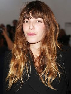 Lou Doillon's messy bangs and waves