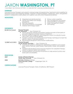Best Physical Therapist Resume Example | LiveCareer