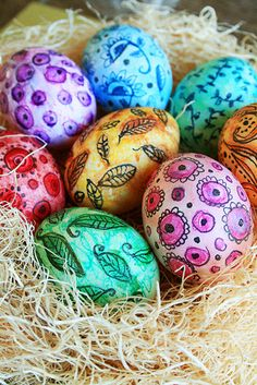 Watercollor Easter Eggs