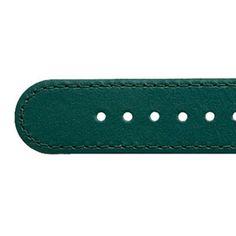 dunkelgrün Deja Vu - Lederuhrenbänder, schmal, mit vergoldeter Edelstahlschließe