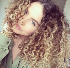 Curly hair - Ombre