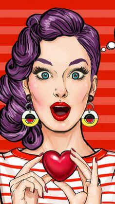 Pop Art Wallpaper Beautiful 51 Ideas For 2019 Pop Art Drawing, Art Drawings, Image Girly, Images Pop Art, Dibujos Pin Up, Desenho Pop Art, Vintage Pop Art, Vintage Ideas, Pop Art Women