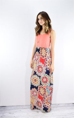 Print Maxi Dress | Small-XL