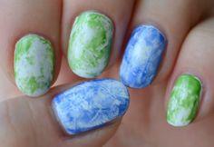 NOTD: Saran Wrap nails & tutorial via @beautybymissl