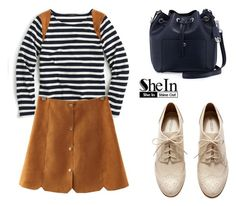 """SHEINSIDE Skirt"" by tania-alves ❤ liked on Polyvore featuring J.Crew, H&M and MICHAEL Michael Kors"