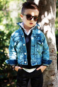 Such a Stylish little boy - Very Cute & Handsome!