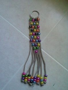 Multi-Colored Pony Bead Key Chain