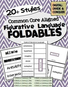 Figurative Language Foldables!  Over 20 styles across almost 60 pages.  All CCSS Aligned ($3)