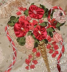 I ❤ ribbonwork . . . Ribbon Roses bouquet ~By Crazybydesign