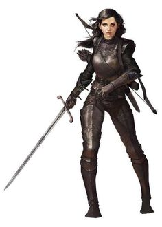 Female warrior or rogue, fantasy character inspiration [Art] Raven, my Rogue/Fighter for an upcoming campaign (by : DnD Female Armor, Female Knight, Lady Knight, Fantasy Armor, Medieval Fantasy, Fantasy Female Warrior, Woman Warrior, Fantasy Inspiration, Character Inspiration