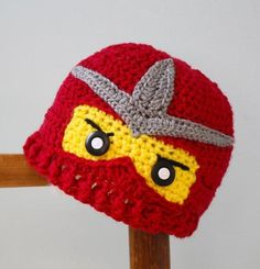 Crochet Ninjago Hats Ninja Hat Crochet Ninja Beanie , Crochet Ninjago Beanie Caps Crochet Character Red With Yellow Headwear Beanies For Men From I And You, $7.96| Dhgate.Com