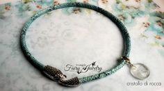Collana serpente azzurro nero girocollo corta cristallo rocca bracciale spirale cristalloterapia, by Evangela Fairy Jewelry, 15,00 € su misshobby.com