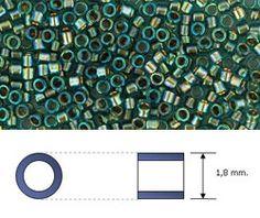 Toho - Treasure - 11/0 - Gold-Lined Aqua (5 gramos) - Beads Perles Boutique