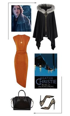"""""""Murder on the Orient Express"""" by savichic ❤ liked on Polyvore featuring Gianvito Rossi, Givenchy and Aurélie Bidermann"""
