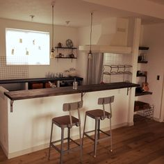 miracle3さんの、DIY,アンティーク,キャンドル,照明,新築開始!,男前,平屋,キッチンカウンター,キッチン,のお部屋写真