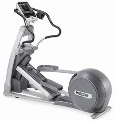 The Precor E FT 546i commercial series elliptical fitness cross-trainer is a solid machine that is built to mirror the natural movements of the body. The natural and smooth movement of this machine will give an outstanding workout without harshly impacting the joints. It is designed to move fluidly, and is very easy to operate and offers an intensive cardiovascular workout, as well as an intensive workout for the gluts and quadriceps...