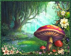 Adorn your wall with this magical Enchanted Forest wallpaper mural by Philip Straub. Made to measure, high-quality wallpaper. FREE UK delivery within 2 to 4 working days. Forest Mural, Forest Art, Magic Forest, Forest Decor, Forest Painting, Forest Theme, Fantasy Kunst, Fantasy Art, Fantasy Forest