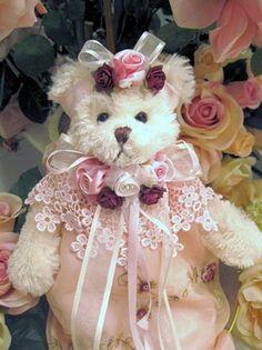 Close View Collectible True Love Victorian Teddy Bear
