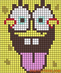 SpongeBob pattern ... stricken - häkeln / knitt - tapestry crochet