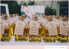 Wedding favors-olive oil-Intimate and Elegant Wedding – Megan and Anthony – Piedmont, CA