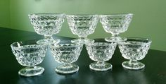 Dessert/Sundae Glasses in American-Clear by Fostoria, Set of 7 by MyComfyCozyHome on Etsy