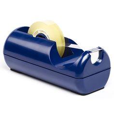 123inkt plakbandhouder blauw  |  De stevige blauwe 123inkt plakbandhouder is voorzien van robuuste mesjes, zodat plakband probleemloos en recht wordt afgesneden. Het gewicht onder in de houder zorgt voor een stevige basis. Deze tape dispenser is geschikt voor zowel smalle als brede rollen (maximaal 25 mm x 33 meter). De houder wordt geleverd exclusief plakband.