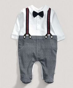 Boys Welcome to the World Mock Braces All in One - New In - Mamas & Papas