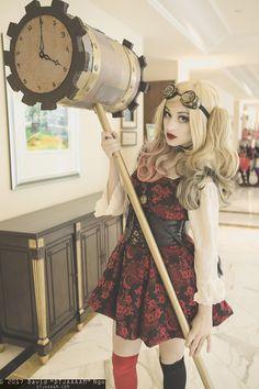 Steampunk Harley Quinn #cosplay at KatsuCon 2017, Photo by DTJAAAAM