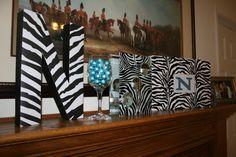 Zebra inspired baby shower - February 2011