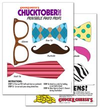 Chucktober's printable photo props are available now! Don't forget to cut out the coupon and bring it in for 10 free tokens!