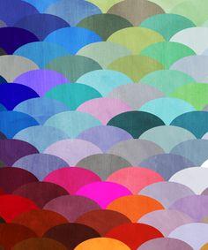 Spectrum Scales Throw Cover