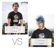 """""""Dogiplier VS Catiplier Shirts"""" by introvertednovelist ❤ liked on Polyvore featuring women's clothing, women's fashion, women, female, woman, misses, juniors, charity, markiplier and dogsvscats"""
